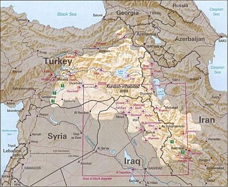 mappa kurdistan